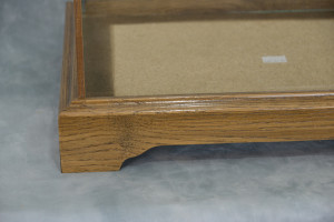 Oak Framed Glass Display Case Standard