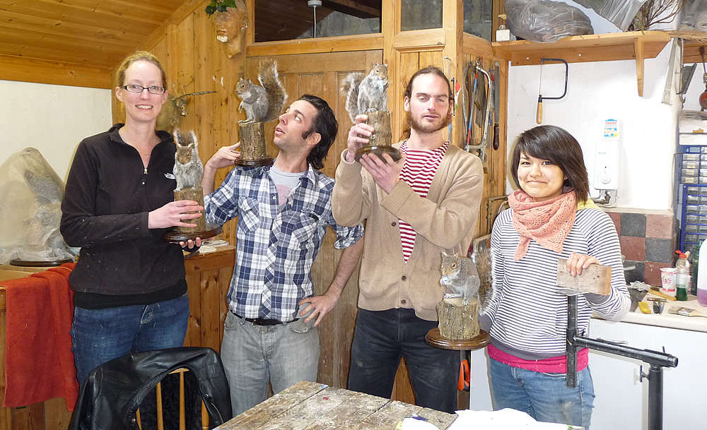 happy Mammal Taxidermy Training course students