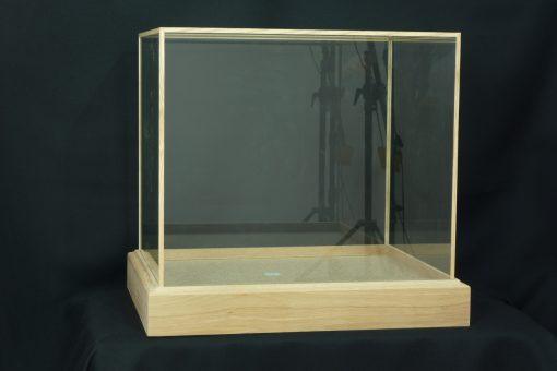 Custom Made Oak glass Cases 2
