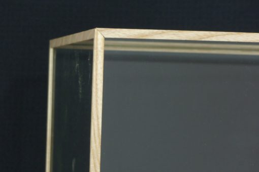 Custom Made Oak glass Cases beading