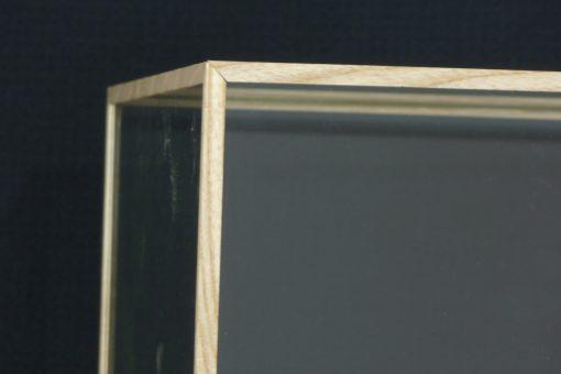 Custom Made Oak glass Cases beading