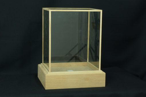 Custom Made Oak glass Cases