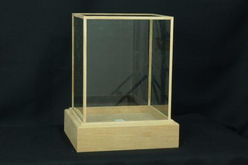 Custom Made Oak glass Cases
