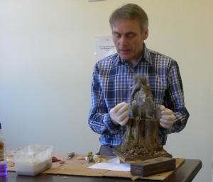 Mike Gadd Demonstrating Squirrel Taxidermy